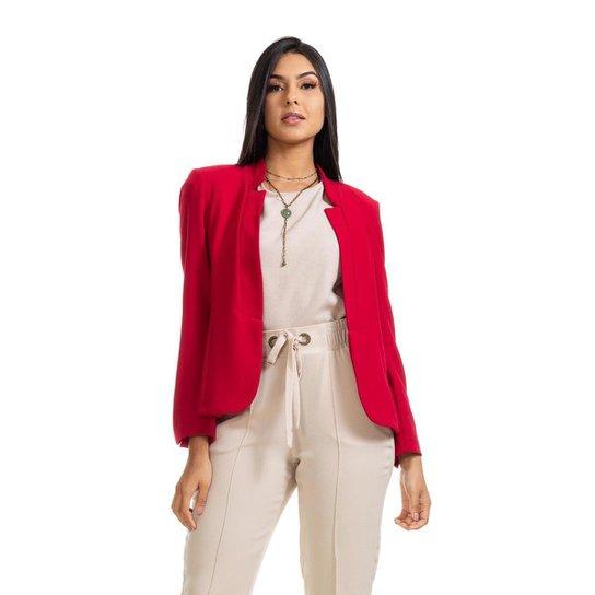 Casaco Clara Arruda Elegance 90052 - Vermelho