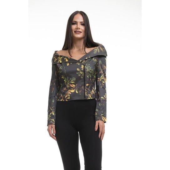 Casaco Clara Arruda Estampado  90033 - Dourado
