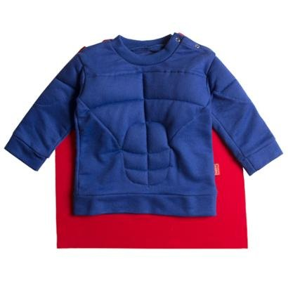 Casaco Infantil Moletom Blue Hero Masculina