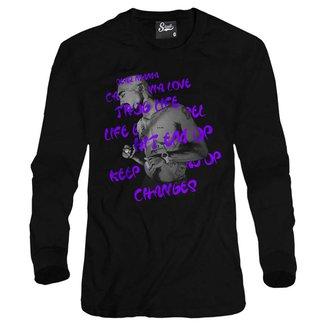 Casaco Moletom Skull Clothing Tupac Song Masculino