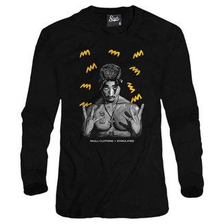 Casaco Moletom Skull Clothing Tupac Yellow Masculino
