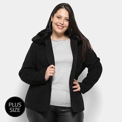 Casaco Queen's Lã Batida Plus Size Feminino-Feminino