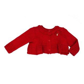 Casaco Tricot Vermelho Bebê