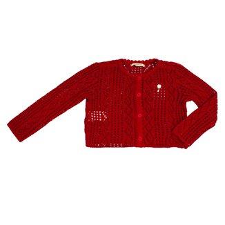 Casaco Tricot Vermelho Infantil