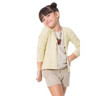 Casaquinho Infantil Trico Brilho Reserva Mini Feminino