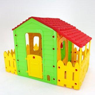 Casinha de Brinquedo Casa Infantil Com Varanda, Portátil BelFix Bel Brink
