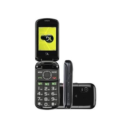 Celular DL YC-130 Dual Chip Câmera Integrada - Rádio FM MP3 Player Desbl. TIM - Unissex
