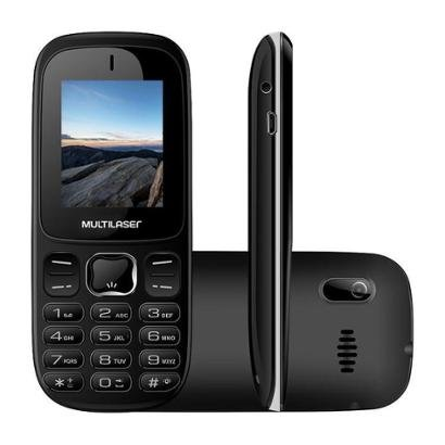 Celular Multilaser UP 3G Dual Chip Camera Integrada Radio FM Desbloqueado Unissex-Preto