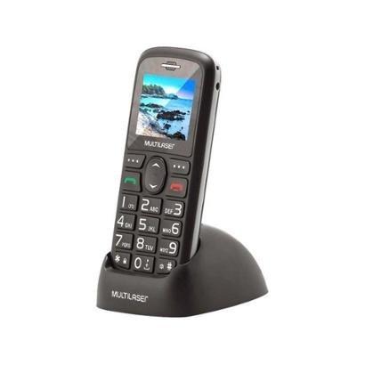 Celular Multilaser Vita 3G Dual Chip 128MB Bluetooth com Base Carregadora Desbloqueado Unissex-Preto
