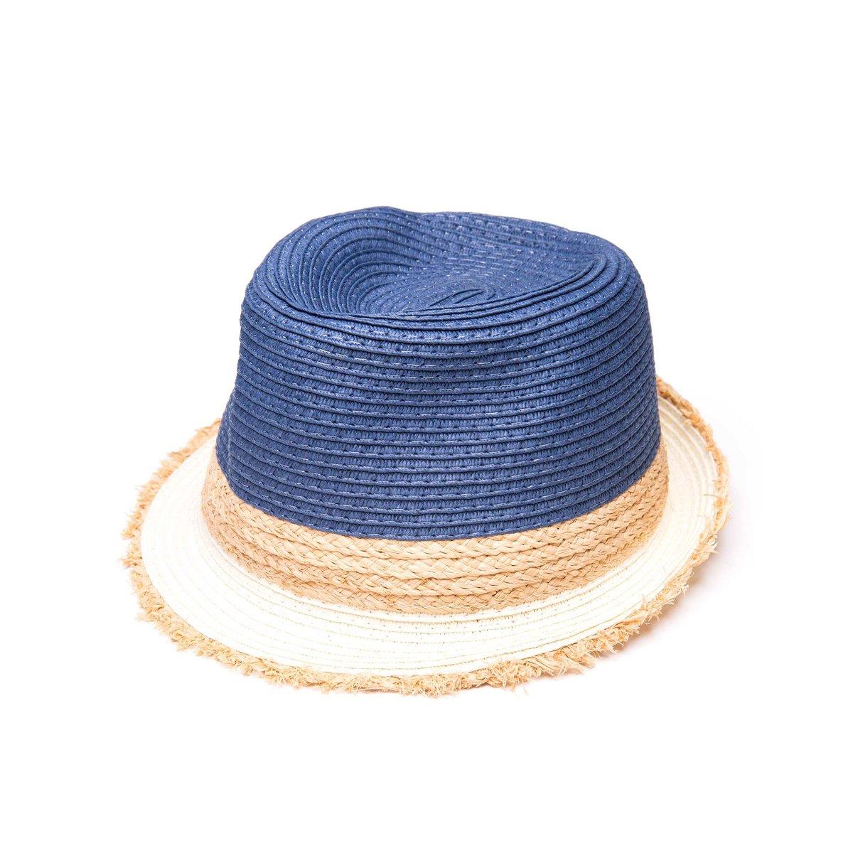 Chapéu AMARO Fedora De Palha - Azul - Compre Agora  280355d8b80