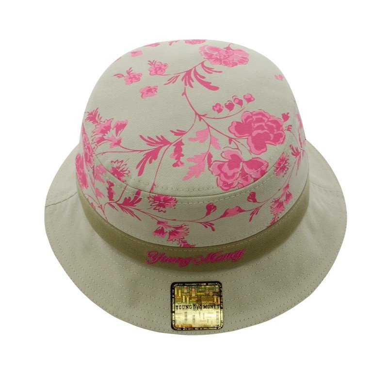 Chapéu Young Money Bucket Hat Floral - Bege - Compre Agora  f37b1f555c1
