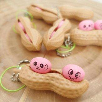 Chaveiro Amendoim Fidget Toy Brinquedo Anti Stress de Apertar do TikTok Silicone Sensorial Relaxa