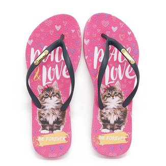 Chinelo Be Forever By Rafitthy 01702A Cat Peace Love