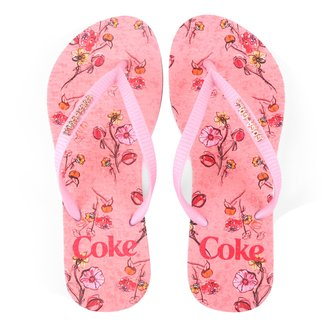 Chinelo Coca-Cola Floral Connection Feminino