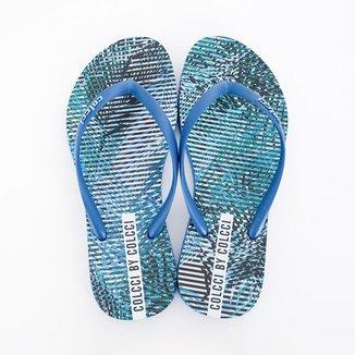 Chinelo Colcci Estampado Feminino - Azul Ultra Blue Azul 39 / 40