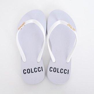 Chinelo Colcci Estampado Feminino - Branco Branco 39 / 40