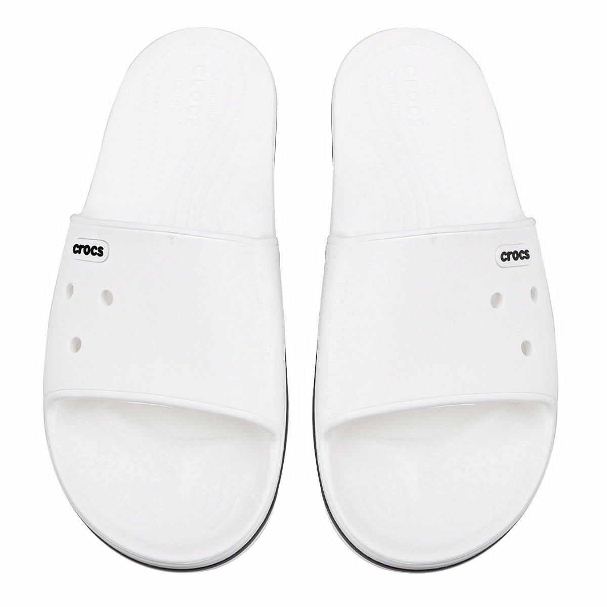 c07a7800c Chinelo Crocs Crocband III Slide - Branco e Preto - Compre Agora | Zattini