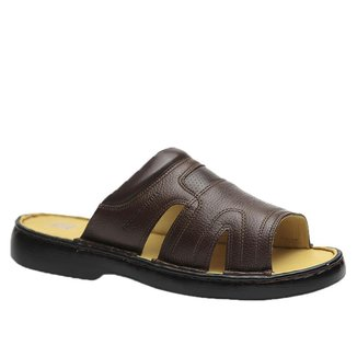 Chinelo Doctor Shoes Couro Masculino