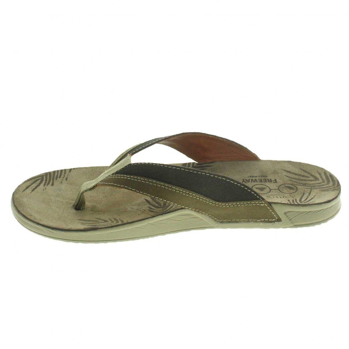 Chinelo Freeway Nadi Masculino - Marrom