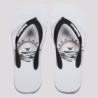 Chinelo Hang Loose Sea Branco e Preto