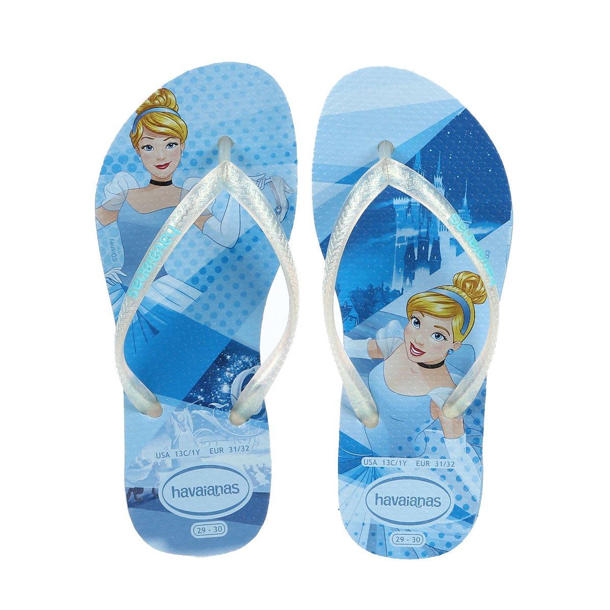 Azul Slim Kids Princess Kids Chinelo Havaianas Chinelo Infantil Slim Havaianas xwz6O7qTZ