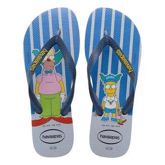 Chinelo Havaianas Simpsons Palhaço Krusty Masculino Cinza