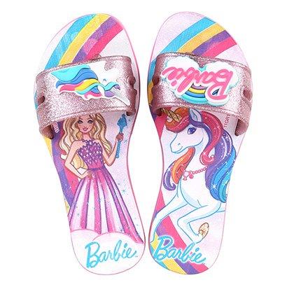 Chinelo Infantil Grendene Barbie Colorful