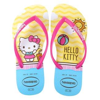 Chinelo Infantil Havaianas K Sl Hello Kitty Feminino