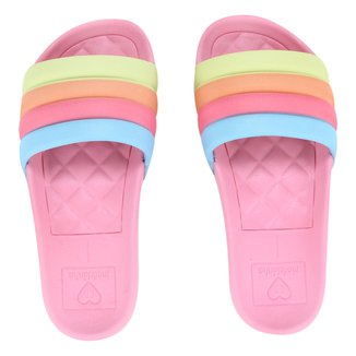 Chinelo Infantil Molekinha Slide Color Feminino