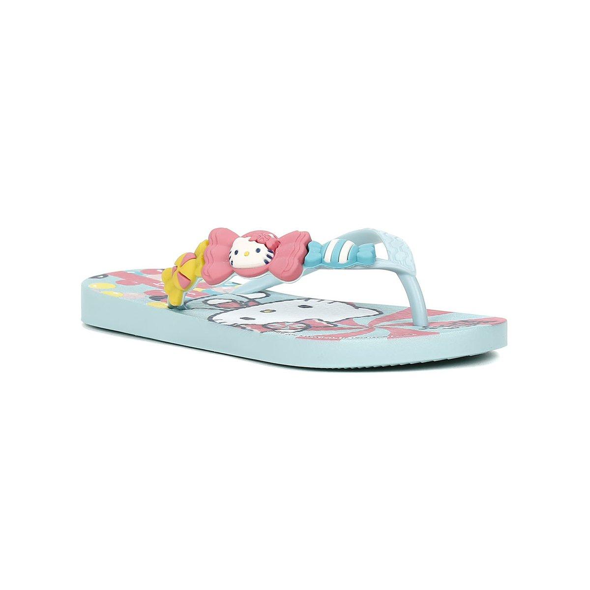 aaf76c5115 Chinelo Infantil Para Menina Hello Kitty - Verde - Compre Agora ...