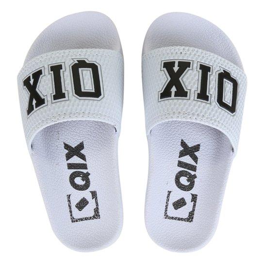 Chinelo Infantil Qix Estampado - Branco+Preto