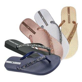 Chinelo Ipanema Glam Feminino Special Original Dedo Sandália Calçado Dourado,prata,rosê Idêntico A F