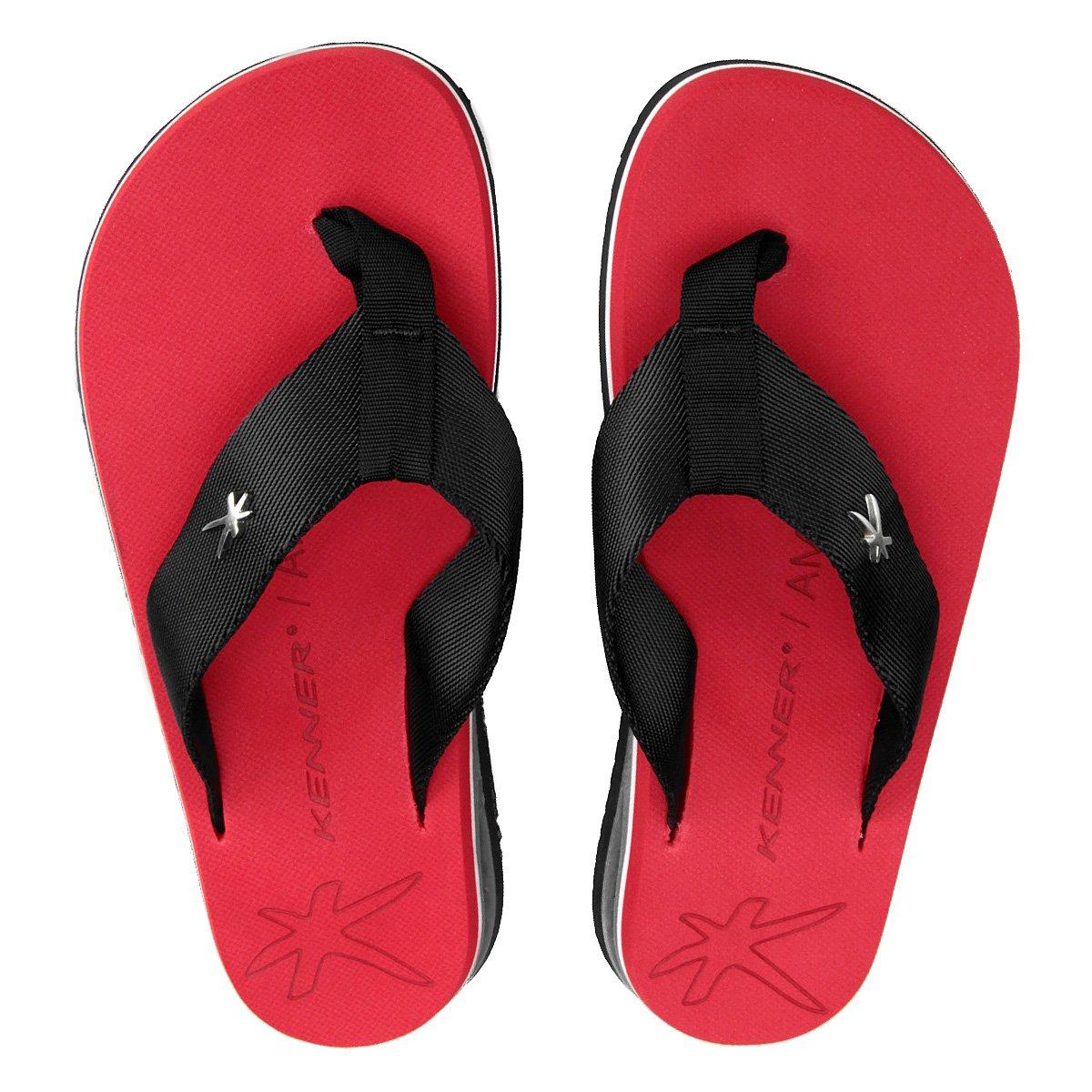 ca241e885 Chinelo kenner amp masculino vermelho e preto compre jpg 544x544 Chinelo  masculino kenner