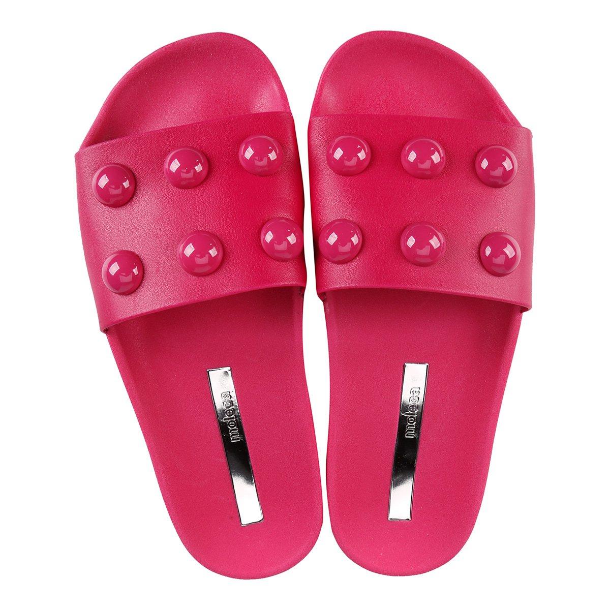Pink Moleca Bolinhas Slide Multi Chinelo Multi Slide Moleca Slide Bolinhas Pink Chinelo Feminino Feminino Chinelo Moleca q4xZpSw