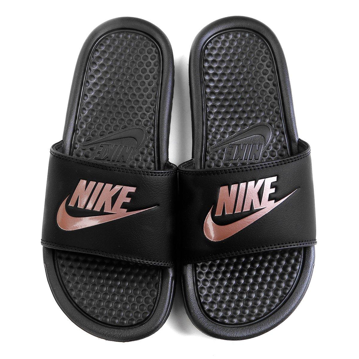 Chinelo Nike Benassi Jdi Slide Feminino Preto E Pink
