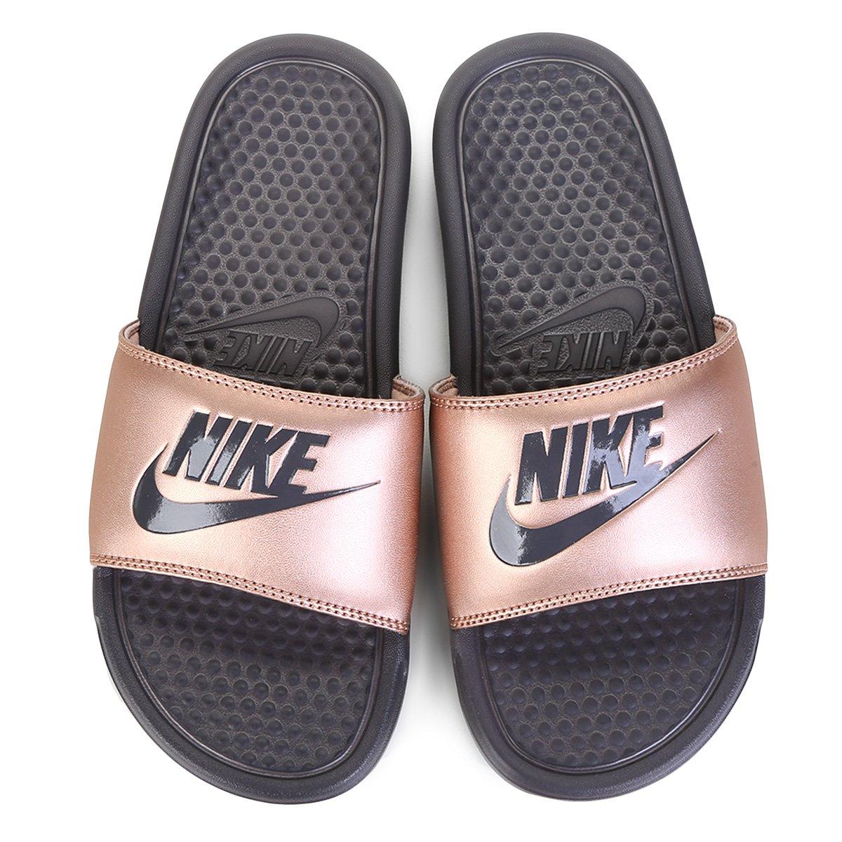 Chinelo Nike Benassi Jdi Slide Feminino Cobre