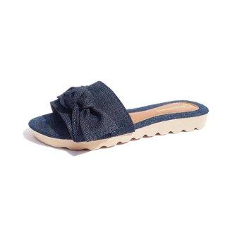 Chinelo Rasteira Gomes Shoes Feminino Jeans Confortável