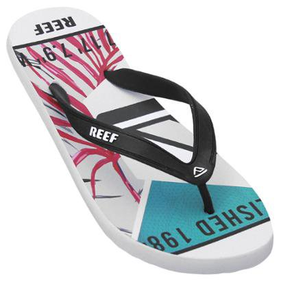 Chinelo Reef Switchfoot Leaves Masculino