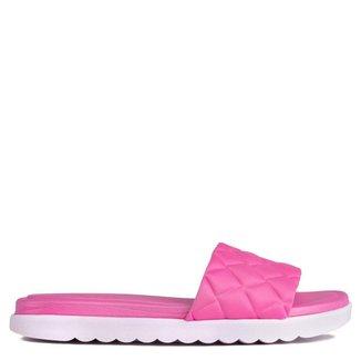 Chinelo Slide Feminino Beira Rio Pink