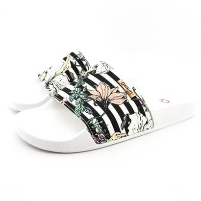 Chinelo Slide Quality Shoes Listras Sola Feminino