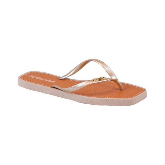 Chinelo Summer Comfort Metalizado - Areia