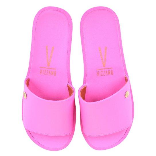 Chinelo Vizzano Slide Liso - Pink