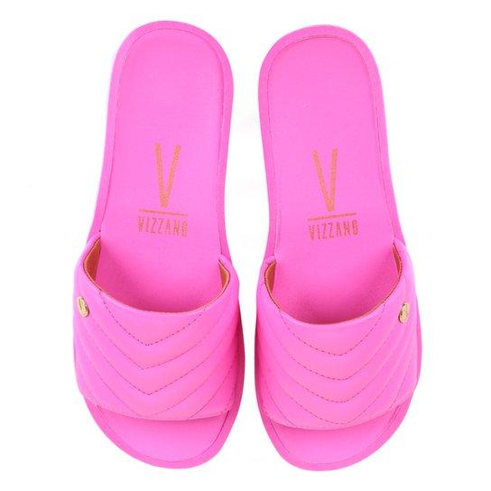 Chinelo Vizzano Slide Matelassê Feminino - Pink