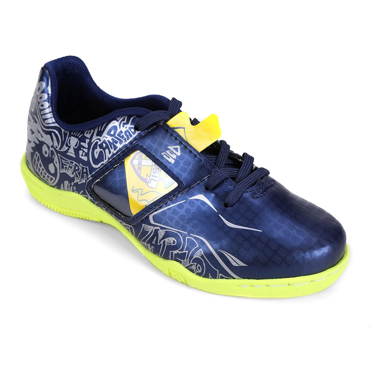 ... Chuteira Futsal Infantil Penalty Personalizável Freestyle Seleções ... 00aaf226c1d8e