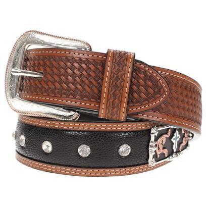 Cinto Couro 3d Belt Company Bordado com Margarida