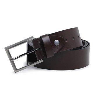 Cinto Couro Carmelo Shoes Casual Liso Masculino