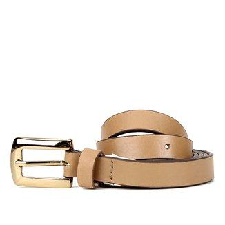 Cinto Couro Shoestock Fino Clássico Feminino
