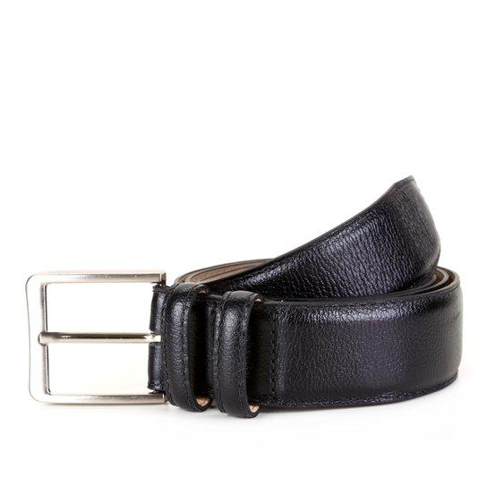 Cinto Couro Shoestock Social Masculino - Preto