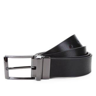 Cinto Couro Shoestock Social Reversível A Fio Masculino