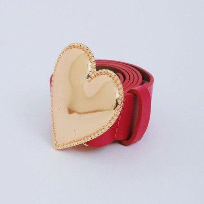 Cinto de Couro Eight Brand Coração Feminino